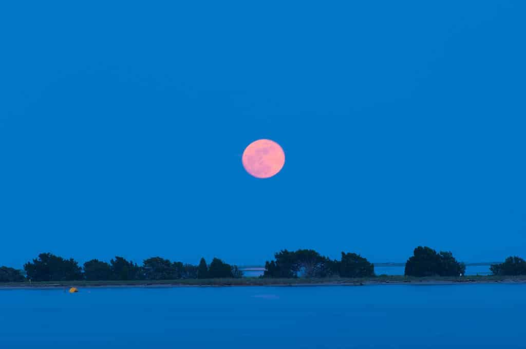 Moon Over Oak Island